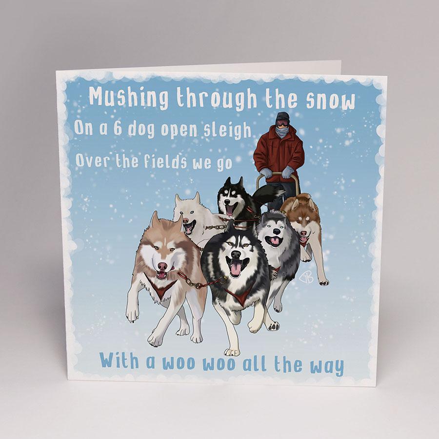 Husky Christmas Cards.Snowdog Christmas Cards