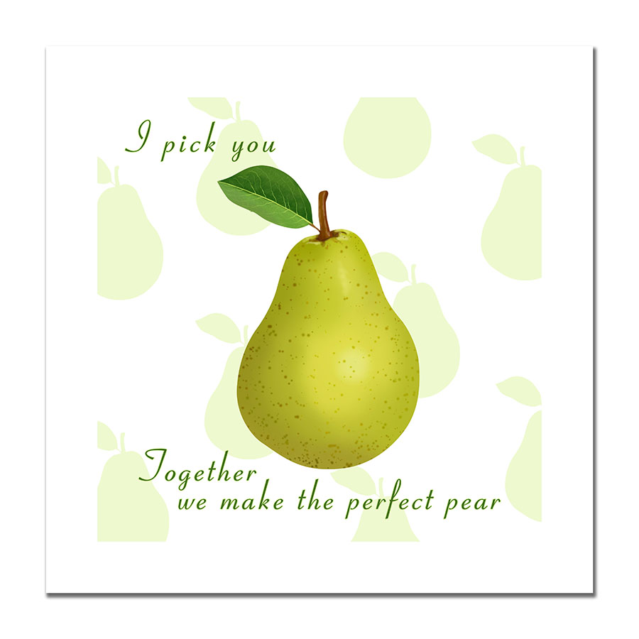 Perfect pear - print