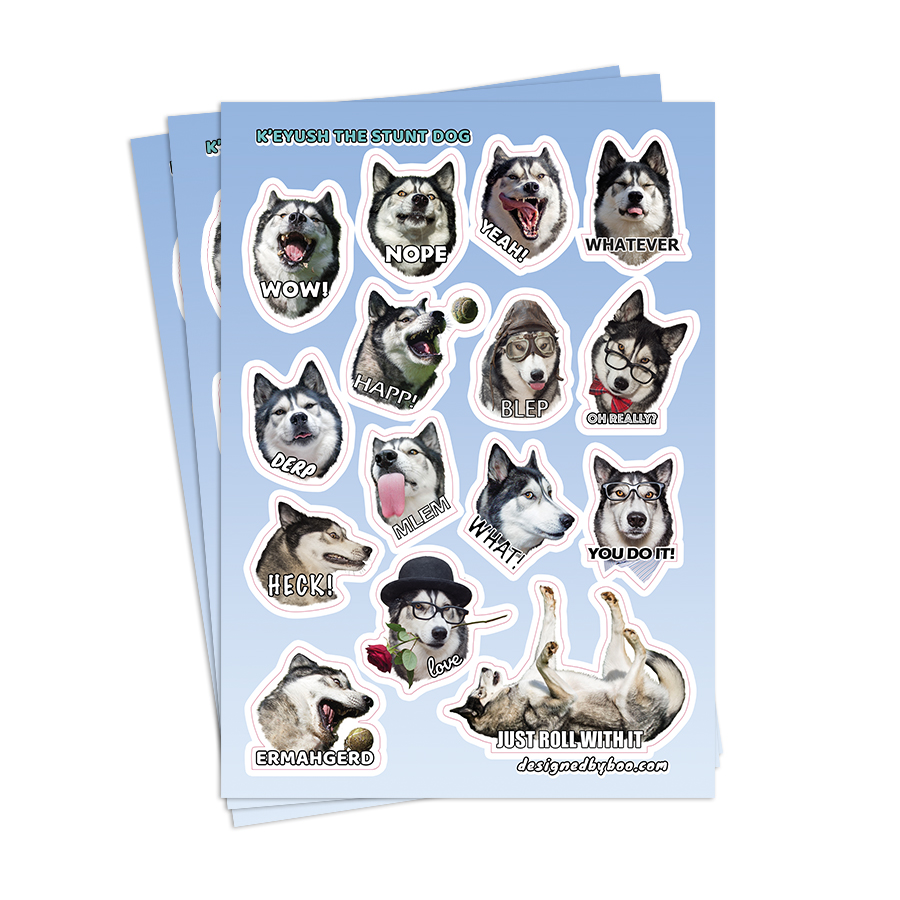 A5 Sticker Sheet – K'eyush's Phrases