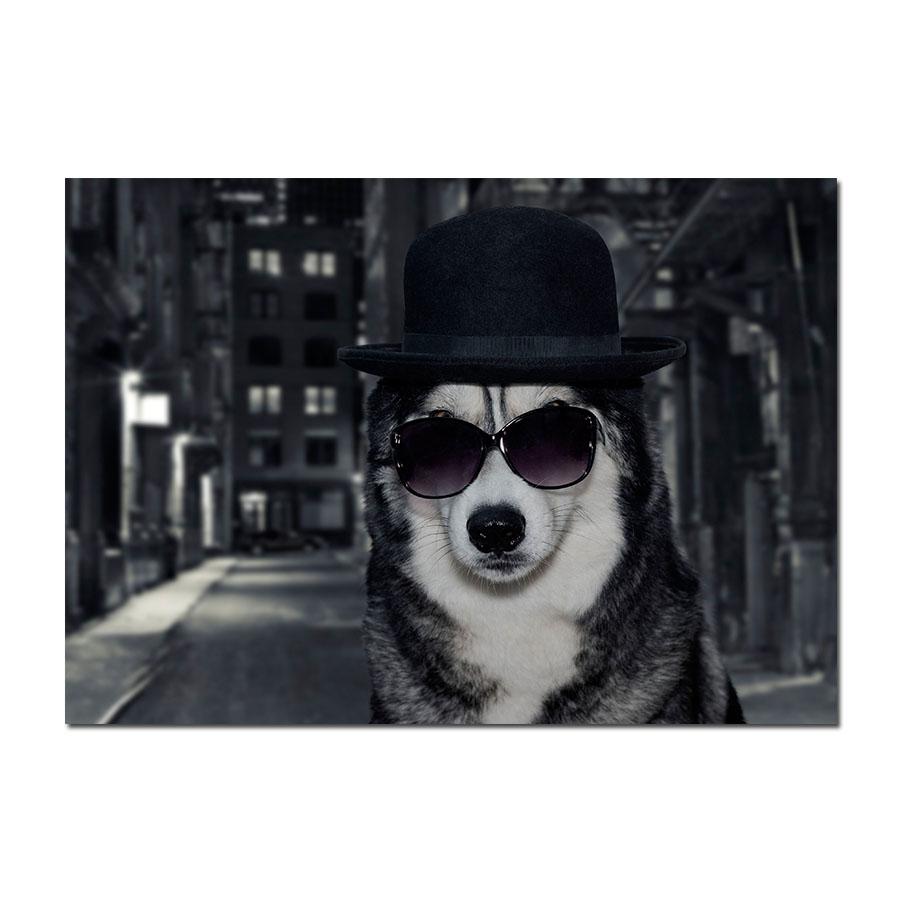 thug life gangster husky