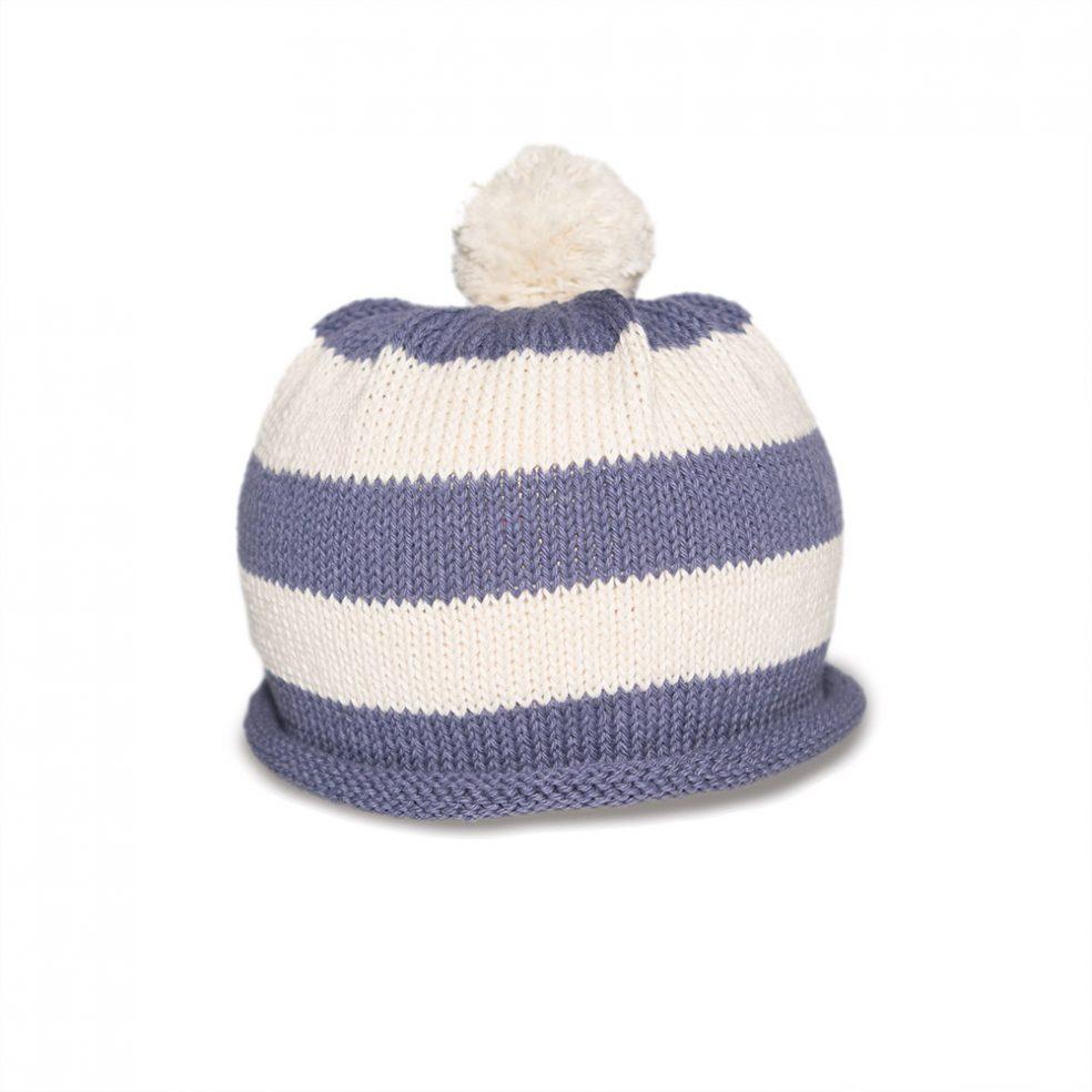 baby stripe purple and cream