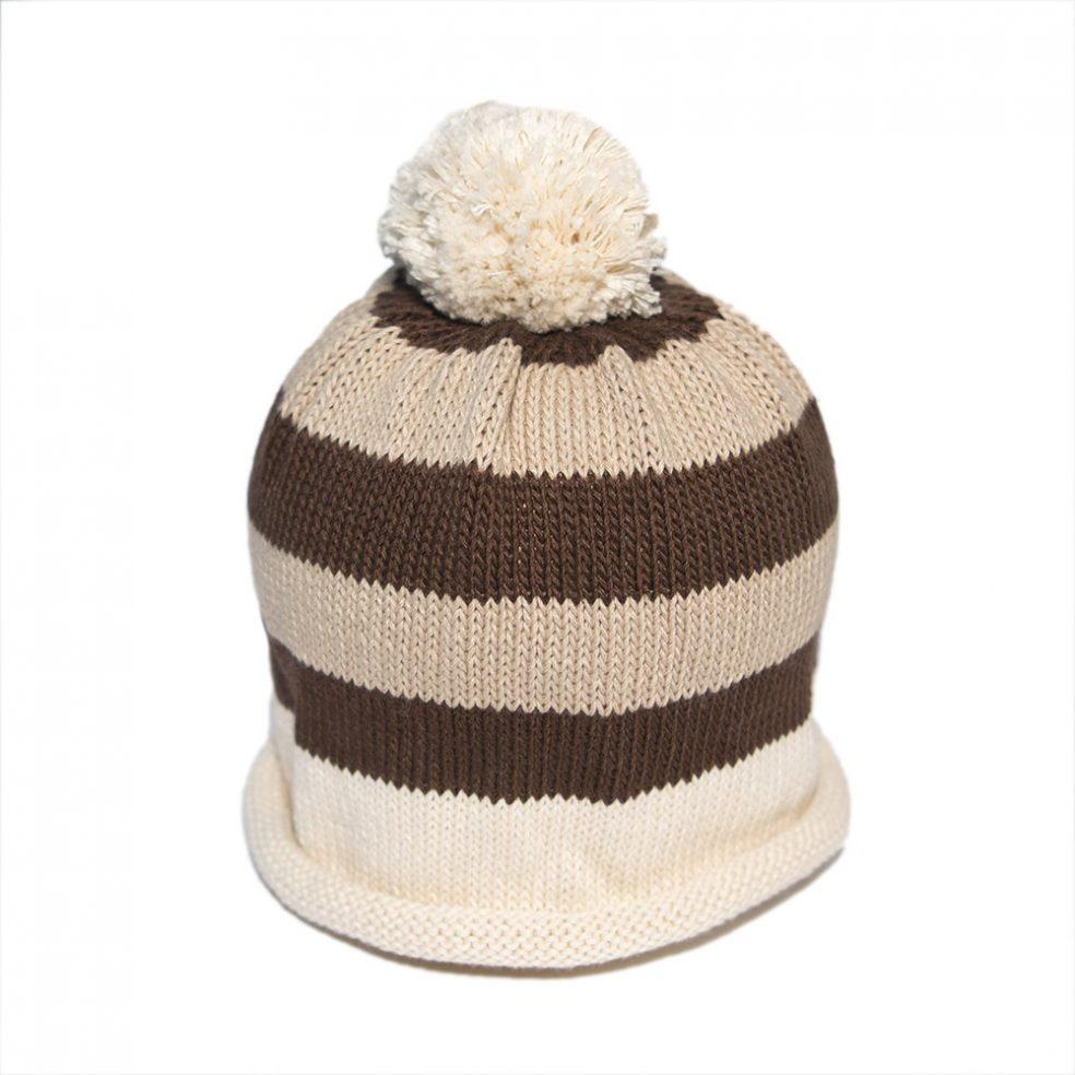 stripe cream and brown