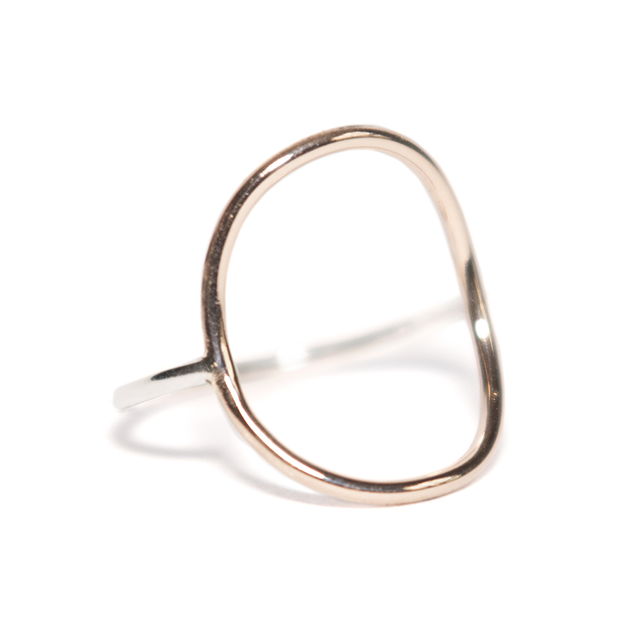 WEB rose circle ring 3