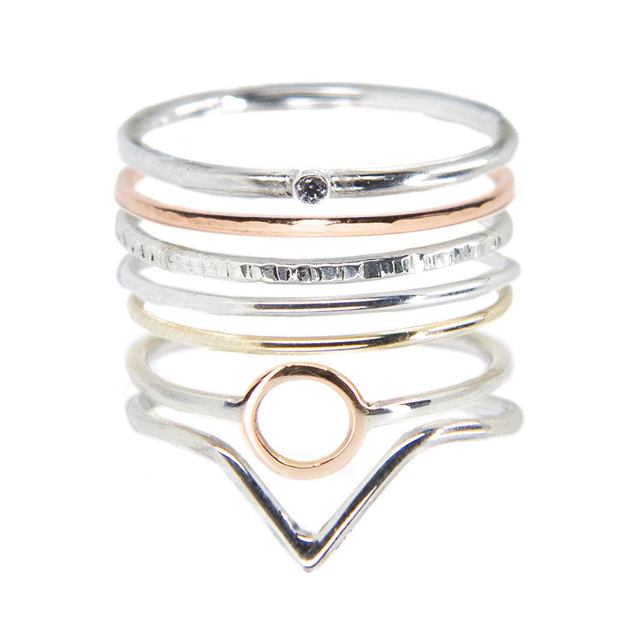 WEB 7 short ring stack