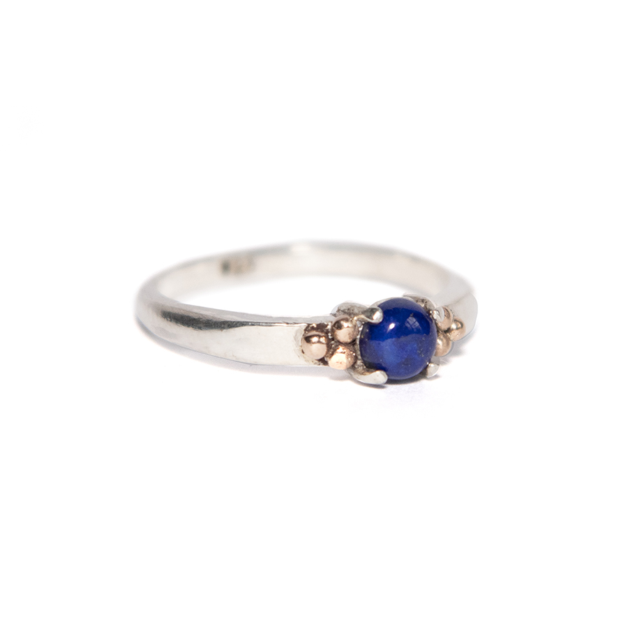 WEB lapis rose ring b