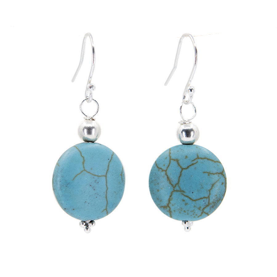 WEB turk disc earrings