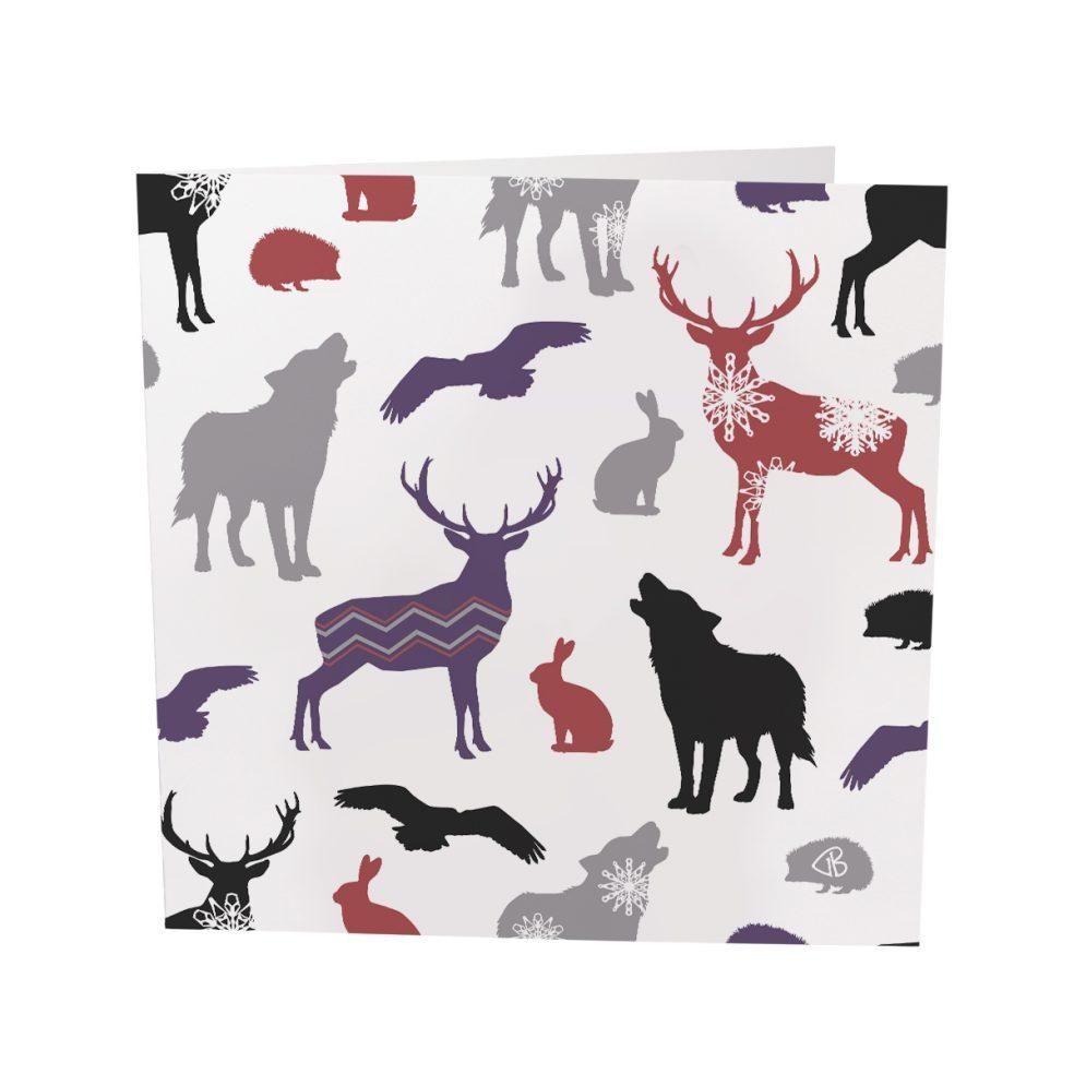 winter animals colour