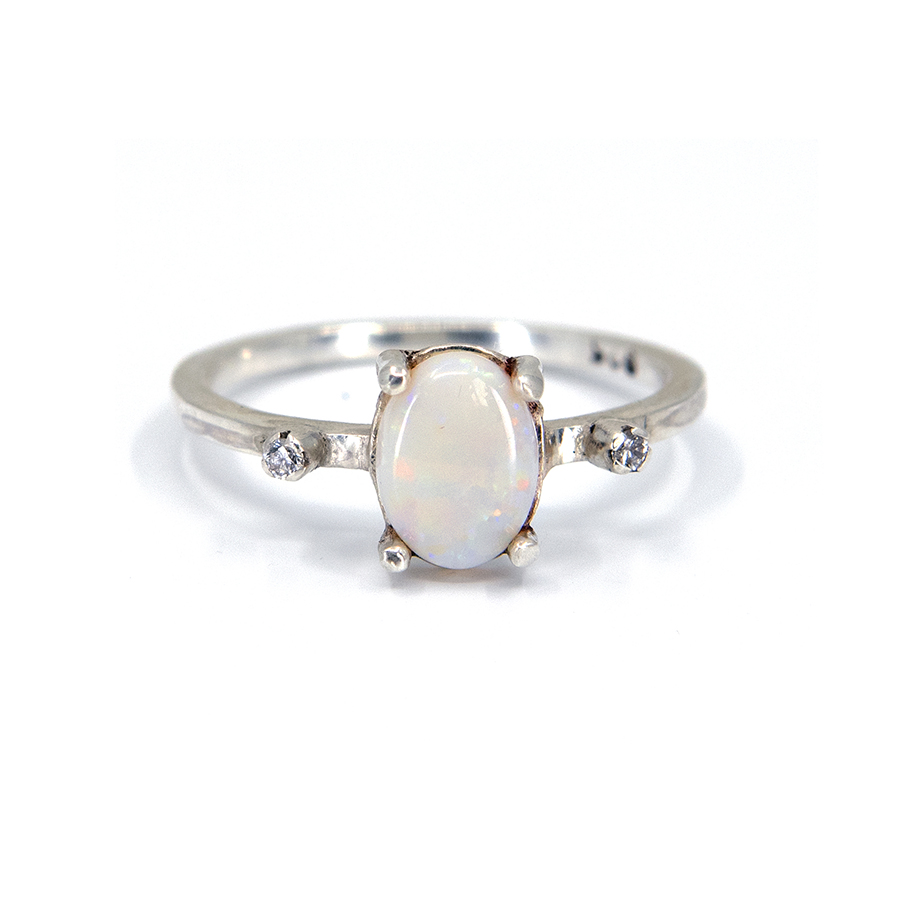 WEB opal diamond ring old a