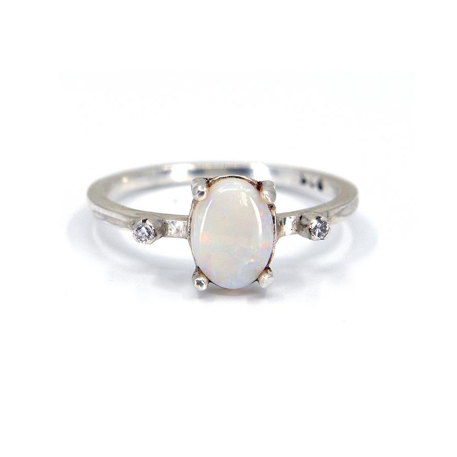 WEB opal diamond ring old a