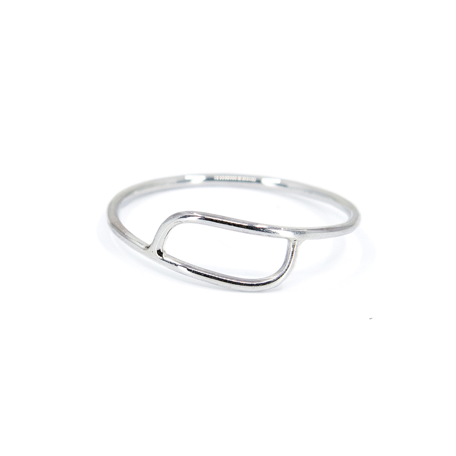 Overlapping Silver Ring- Size R