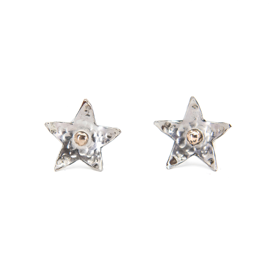 WEB rose dot star studs a