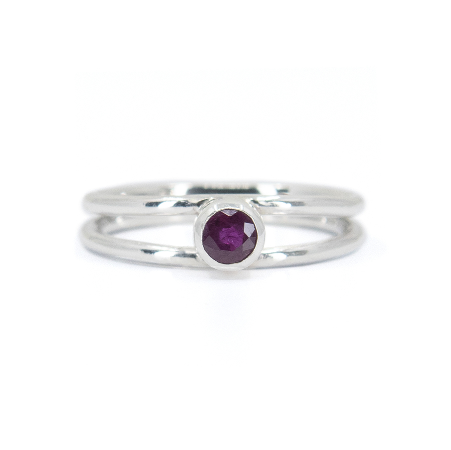 WEB twin ring ruby a