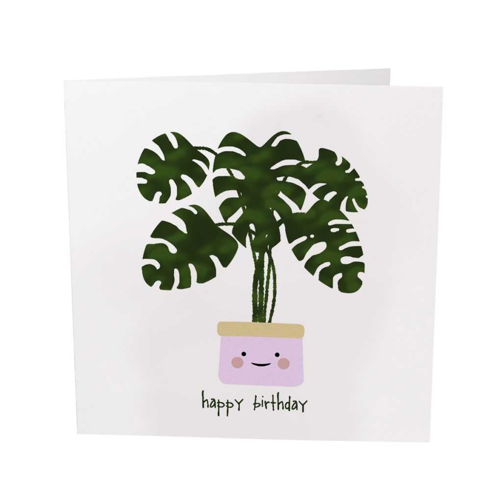 Potted Plant Happy Birthday – Card