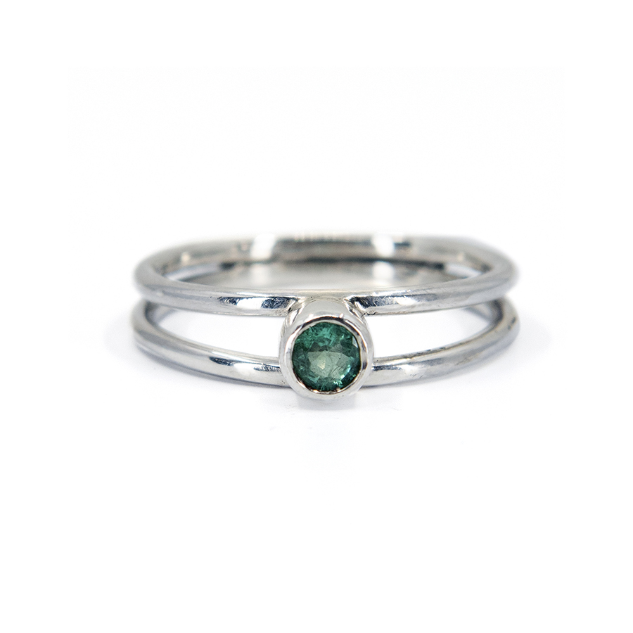 WEB emerald twin ring a