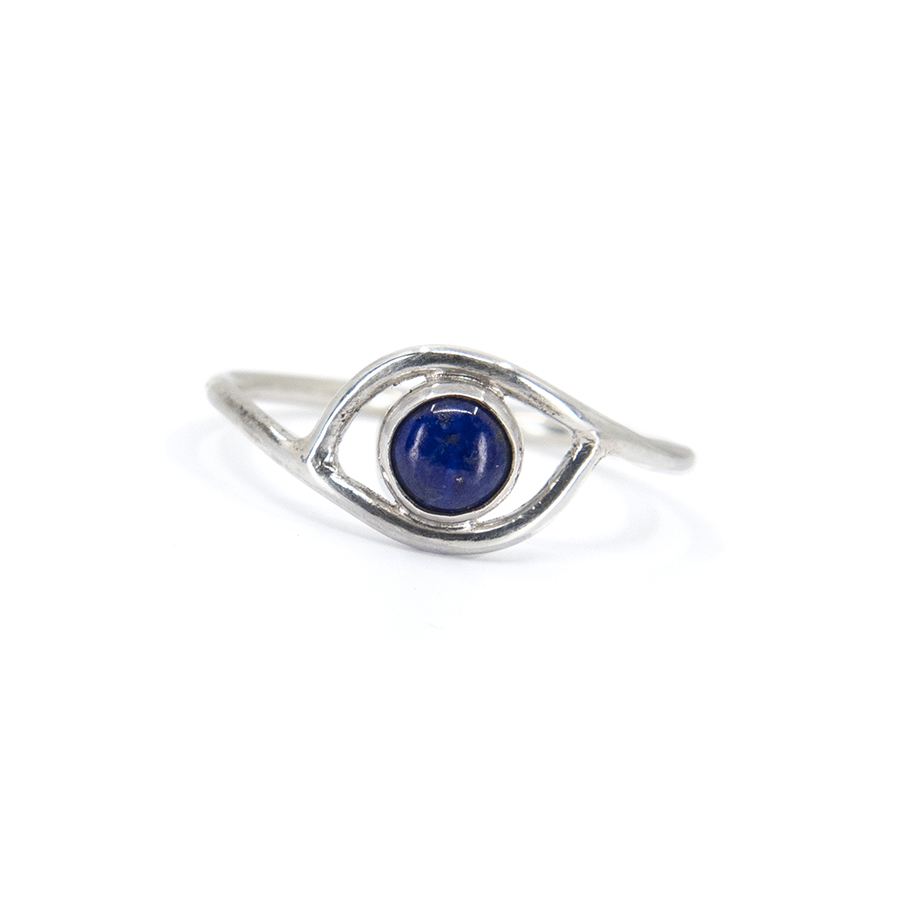 WEB lapis eye ring