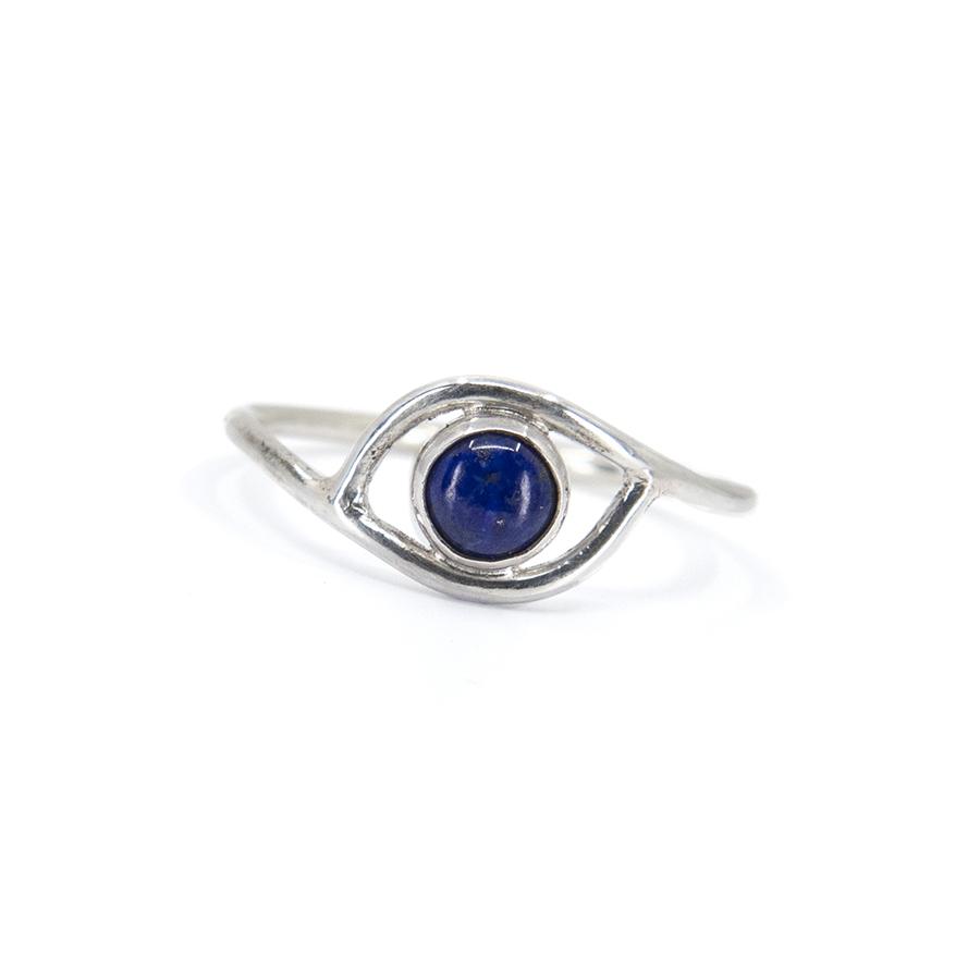 WEB lapis eye ring