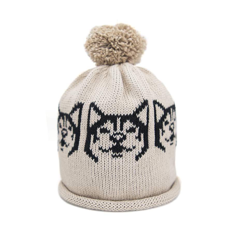 Snowdog in Oatmeal And Black – Adult Hat