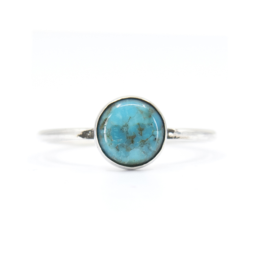 WEB simple turquoise ring a