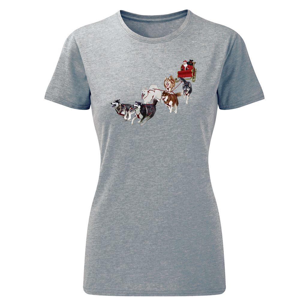 Santa's Sled Team – Ladies T-shirt