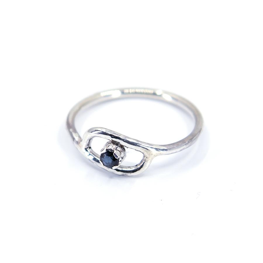WEB saphire eye ring