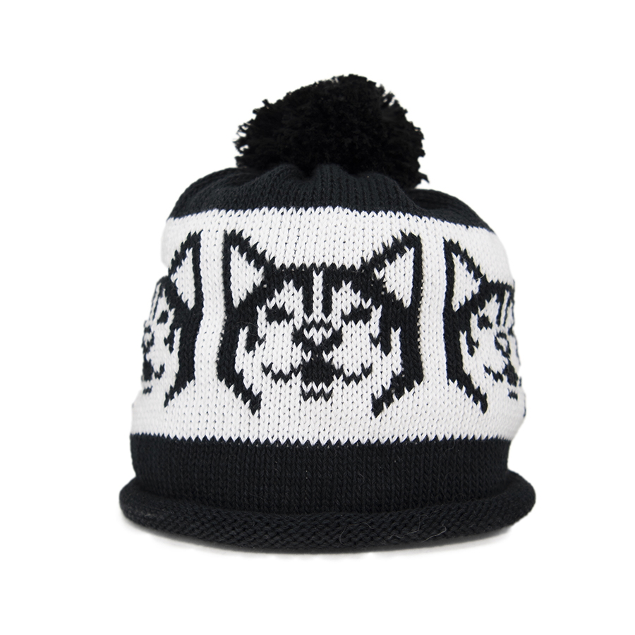 Snowdog in Black And White Strip – Adult Hat