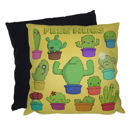 free hugs cactus cacti cushion