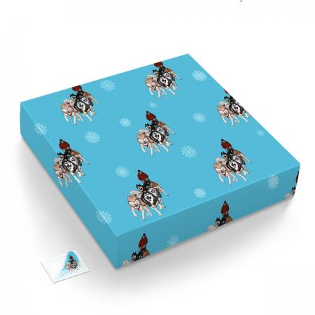 Mushing gift wrap