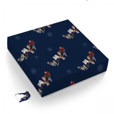 sled team gift wrap