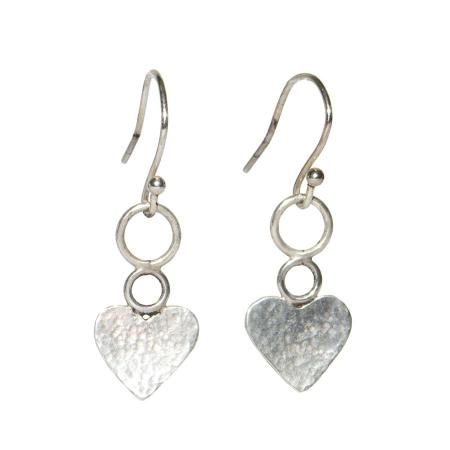 hammered hearts earrings