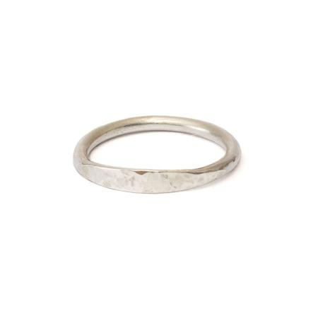 hammered flat ring